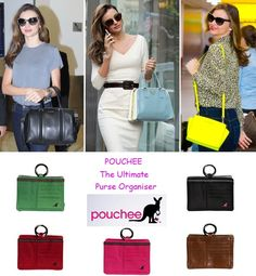 If you are a handbag fanatic like Miranda Kerr and are constantly switching handbags, then you need to check out these Pouchee Handbag Organisers! They have a place for all your essentials like lipstick, sunglasses, mobile phone, credit cards, keys and much more to help you stay as organised as ever! Available in 5 different colours to suit your style on http://www.secretfashionfixes.ie/pouchee-cotton-pink/pou-cotton%20pinkpd.html