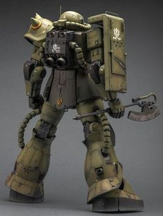 GUNDAM GUY: Mega Size 1/48 Zaku II Mass Production - Customized Build