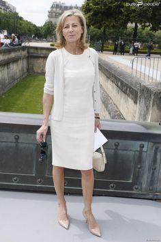 PHOTOS - L'élégante Claire Chazal à Paris le 1er juillet 2013