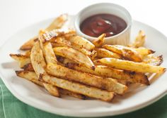 Never buying french fries from the grocery store again, this is a healthy and easy way to make a favorite.