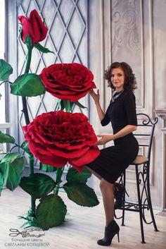 Svatební dekorace * nádherné růže z papíru ♥