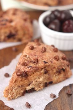 531d5aa86a9d Cherry Chocolate Chip Scones -- with tons of rich melty chocolate   made  healthier with yogurt instead of butter!
