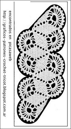 crochet fabric , CROCHET - GANCHILLO - PATRONES - GRAFICOS: CROCHET = PRECIOSA PUNTILLA TEJIDA A GANCHILLO CON SU GRAFICO