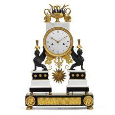 An ormolu, patinated bronze and marble mantel clock, La Croix, Paris, circa 1795 | Lot | Sotheby's