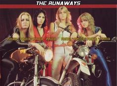 Lita Ford, Joan Jett, Sandy West and Cherie Currie from The Runaways!