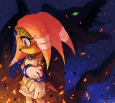 Tikal and Chaos Sonic Heroes, Echidna, Tikal, Blue Streaks, Archie Comics, Cartoon Characters, Sonic The Hedgehog, Cool Art, Fan Art