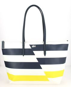 a9907cff8d Grand sac shopping LACOSTE Cyber Yellow Sac Lacoste, Lacoste Femme, Sacs  Femme, Sac