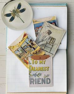 Postcard Wallets!! Great vacation craft. Sewing Crafts  @CountryLiving
