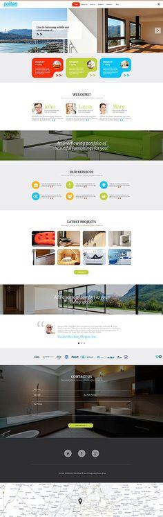 Template 54582   Zoltan Interior Responsive WordPress Theme