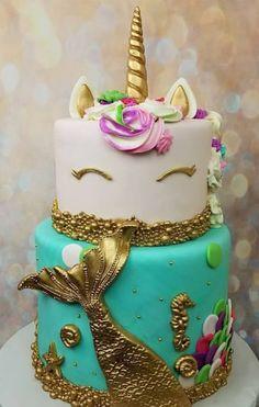 Unicorn Mermaid Cake