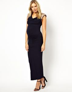 Lipstick Boutique Maternity | Lipstick Boutique Maternity Embellished Shoulder Maxi Dress at ASOS
