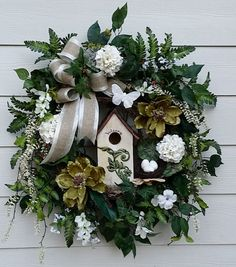 Hey, I found this really awesome Etsy listing at https://www.etsy.com/listing/217936964/large-birdhouse-wreath-spring-wreath