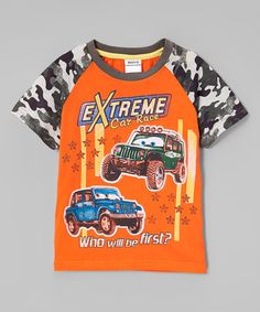 Love this Orange & Gray 'Extreme Car Race' Tee - Infant, Toddler & Boys on #zulily! #zulilyfinds