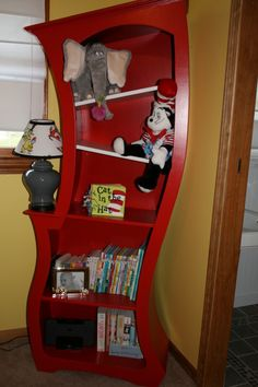"""Dr. Seuss Land , A gender neutral nursery sure to keep the new baby up for hours! , My father built the bookshelf to match our """"whimsical"""" t..."""