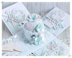 Mint Flowers, Unique Flowers, Exploding Box Card, Wedding Cake Decorations, Paper Cake, Explosion Box, Paper Roses, Flower Making, E Design