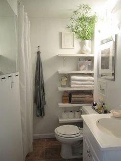 Com cortina 55 ideias para banheiros pequenos - Assuntos Criativos