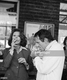 Sophia Loren and Richard Burton (1925 - 1984) filming a television remake of the classic film 'Brief Encounter', for Alan Bridges and Carlo Ponti.