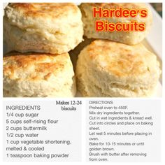 cool Simple and fairly easy way to make your very own Hardee's Biscuits without e...