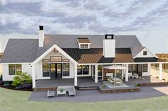 45 Ideas farmhouse plans modern bonus rooms for 2019 Modern Farmhouse Plans, Farmhouse Design, Farmhouse Style, Farmhouse Decor, French Farmhouse, Farmhouse Windows, Farmhouse Homes, Modern Exterior, Interior Exterior
