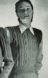 NEW! Sleeveless Pullover knit pattern from Jack Frost, Volume No. 53, originally published in 1951.