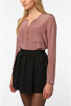 Urban Outfitters  Silence & Noise Silk Blouse