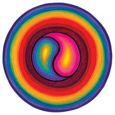 yin yang rainbow balance