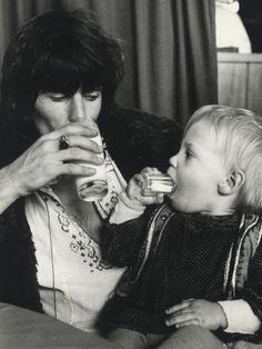 Keith Richards with son Marlon.
