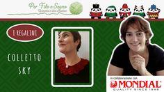 Speciale Natale - Colletto Sky #colletto all'uncinetto #per filo e segno #crochet free pattern #video tutorial