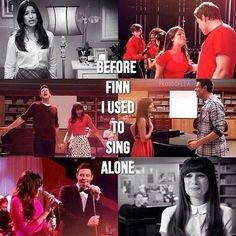 Before Finn, I used to sing alone Glee Memes, Glee Quotes, Rachel Berry, Finn Glee, Glee Rachel And Finn, Lea And Cory, Finn Hudson, Glee Club, Cory Monteith