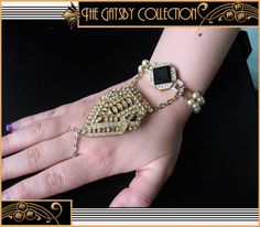 Here Comes The Great Gatsby Bride: Get the 1920s Wedding Makeup Look. Jewelry image via The Gatsby Collection: http://www.bagtheweb.com/b/UOz1NE