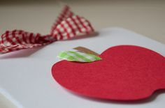 Apple Themed First Birthday Party Invitations Baby Shower Red Gingham Green Gingham Leaf by CardinalBoutique on Etsy