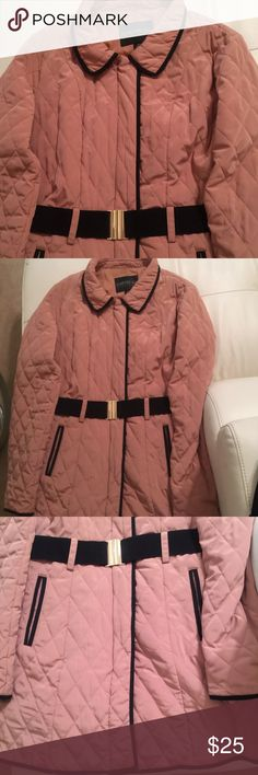 Belted Quilted Coat Sz 2X Item is in great preowned condition. Has some wear but still has plenty of life left. Forever 21 Jackets & Coats Puffers