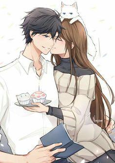 Jumin x MC + Mystic Messenger + Couple Amour Anime, Couple Manga, Anime Love Couple, Couple Art, Manga Couples, Cute Anime Couples, Anime Couples Hugging, Romantic Anime Couples, Anime Cosplay