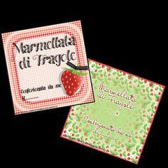 Etichette per Marmellata di Fragole- file pdf
