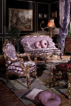 Italian style furniture - 50 classic and modern upholstered furniture - Decoration Top Victorian Interiors, Victorian Decor, Victorian Homes, Victorian Fashion, Victorian Era, Baroque Furniture, Classic Furniture, Victorian Style Furniture, Velvet Furniture