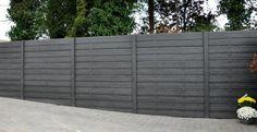 moderne betonschutting lijkt net echt houten schutting