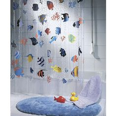 Cortina de baño Modian Fish Multicolor