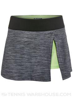 Bolle Shades Side Slit Tennis Skirt (Black Heather) #tennisoutfit #tennisskirt