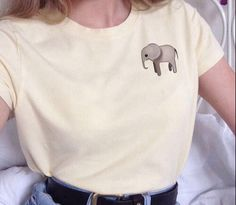 Elephant Corner White T shirt - Fresh-tops.com