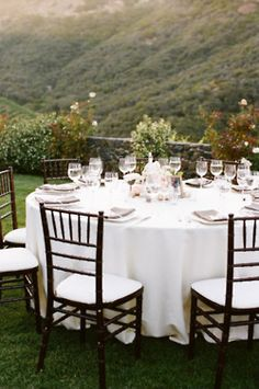 An outdoor dinner party