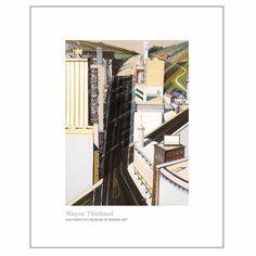 SFMOMA MuseumStore   Wayne Thiebaud   Sunset Streets Print
