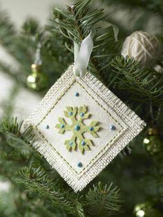 DIY holiday craft ornament by Robin Zachary. Photo by Luciana Pampalone.