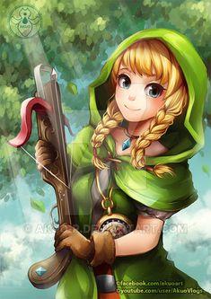 Linkle by Akuo-art on DeviantArt Twilight Princess, Princess Zelda, Nintendo World, Hyrule Warriors, Hero's Journey, Legend Of Zelda Breath, Breath Of The Wild, Photoshoot Inspiration, Game Art