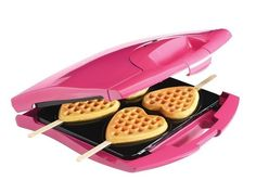 Make heart-shaped waffles on a stick | 17 Genius Breakfast Inventions That Will Change Your Life