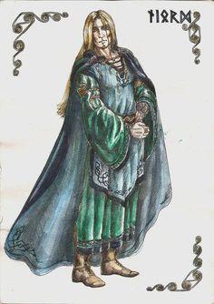 Njörðr es el dios de la tierra fértil y de la costa marina, así también como el de náutica y la navegación.  Es el esposo de Skaði y padre de Frey y Freyja. Njörðr y sus hijos se unieron a los Æsir como rehenes de los Vanir luego de la guerra entre ambos bandos. Tales rehenes son considerados parte de la familia de la aristocracia y líderes legítimos, pero no son libres  de partir para asegurar los intereses mutuos del tratado de paz.
