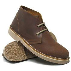 Roamers - Damen Desert-Boots - Rahmengenäht mit Antikleder - Braun - UK3 / EU36 - http://on-line-kaufen.de/roamers/36-eu-3-uk-roamers-damen-desert-boots-mit-braun