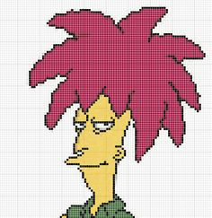 Sideshow Bob Perler bead pattern by felineattraction.deviantart.com on @DeviantArt