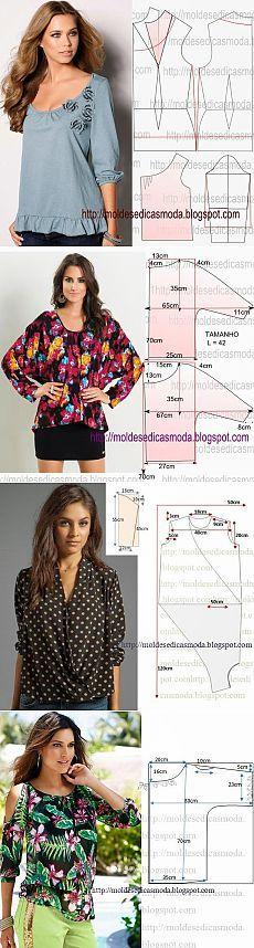 Блузки +выкройка