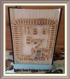 It's a Boy Train Track. Book Folding Pattern by JHBookFoldPatterns on Etsy
