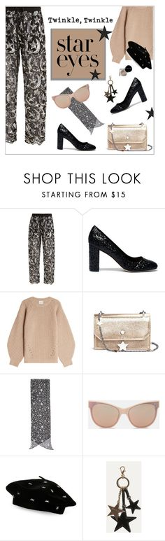 """""""Twinkle, Twinkle: Star Outfits"""" by alinepinkskirt on Polyvore featuring Ashish, Sole Society, Claudia Schiffer, Jimmy Choo, STELLA McCARTNEY, Steve Madden, Karen Millen, Bobbi Brown Cosmetics and StarOutfits"""